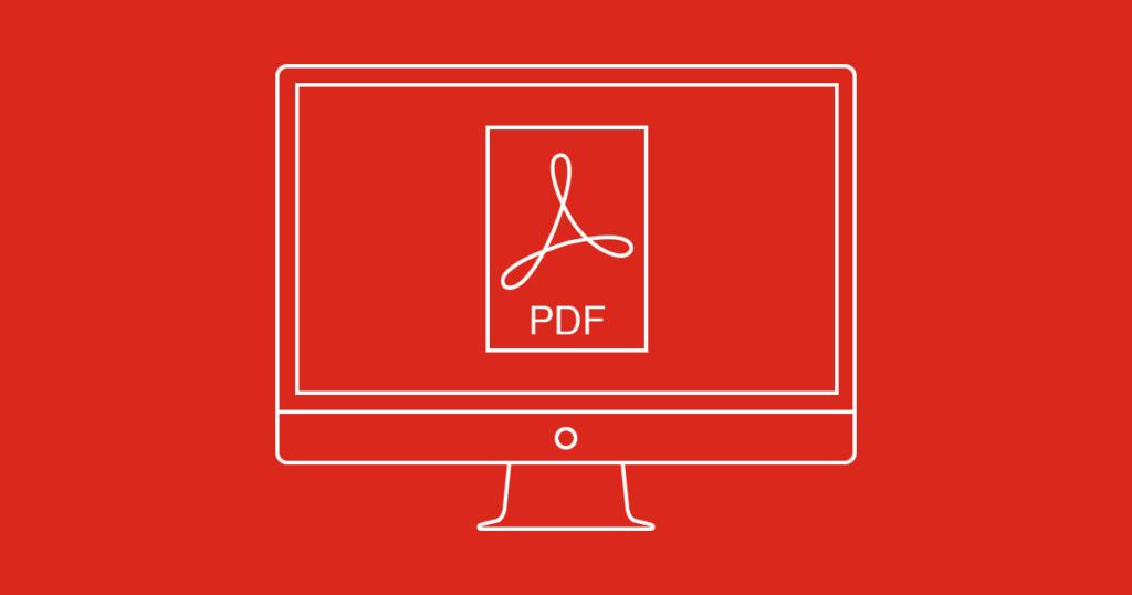 PDF icon on a computer screen